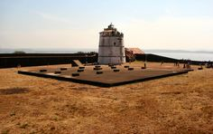 #Aguada_Fort, #Goa - After spending a pleasant afternoon at the anjuna beach, we drove towards Aguada Fort, Goa. Another major attraction in the town, this particular fort has its own charm. There's a huge lighthouse situated in the middle.