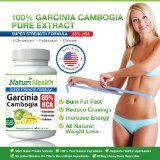Pure 65% HCA Garcinia Cambogia Extract Weight Loss Supplement and Natural Appetite Suppressant l Super Strength Formula with Potassium Calcium and Chromium for Efficient Fat Loss Results l 1000mg per servings l 60 capsules by Naturi Health