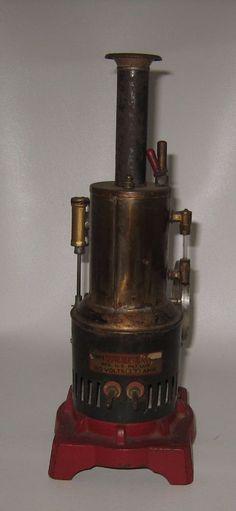 "1930's Weeden Steam Engine No 720 Electric Brass Boiler 12"" tall Cast Base #BP37"