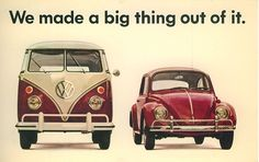 DDB, ad campaign for VW transporter & Beetle, 1960s