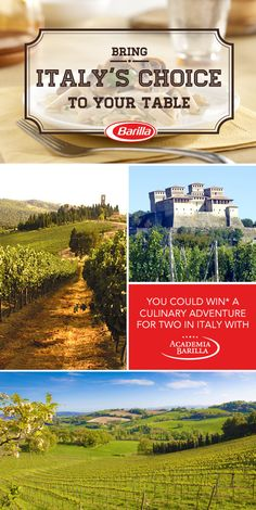 Put your Barilla IQ to the test for a chance to WIN* a culinary adventure for 2 in Italy with Academia Barilla!