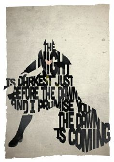 Designed by Pete Ware of and Oak, this Batman typography art is inspired by a quote from the movie The Dark Knight. Im Batman, Batman Art, Superman, Comic Movies, Superhero Movies, Comic Books, Pixar Poster, Black Comics, Dc Comics