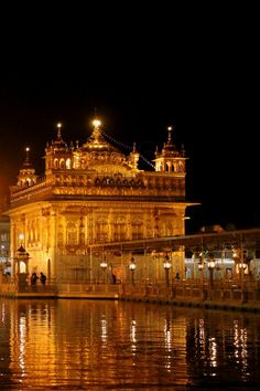 Golden Temple Night Wallpapers Download