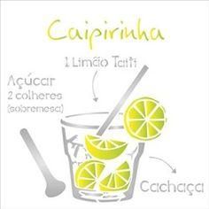 Stencil Drink Caipirinha 30,5 x 30,5 - OPA