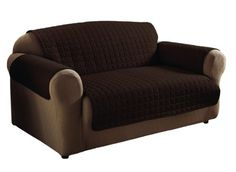 Innovative Textile Microfiber Sofa Furniture Protector, Chocolate  Innovative Textile Solutions Http://www