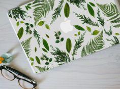 Leaf Macbook Decal - Genuine Leaf, Fern and Foliage MacBook Laptop Skin Macbook Pro Retina Mac Laptop, Macbook Laptop, Laptop Skin, Apple Laptop, Laptop Case, Macbook Skin, Coque Macbook, Macbook Pro Tips, Macbook Pro Case