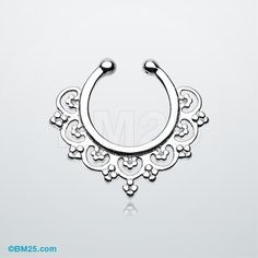 Celestial Filigree Fake Septum Clip-On Ring