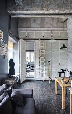 Крошечный лофт для молодого дизайнера в Одессе http://on.fb.me/1TfN2aZ