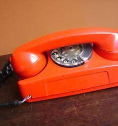 Telefone Vermelho Antigo A Disco / Sem Testar