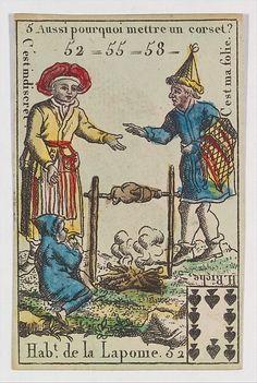 Hab.t de la Laponie from Playing Cards (for Quartets) 'Costumes des Peuples Étrangers'