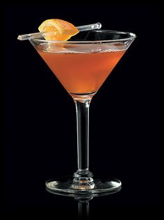 The Samuels:  Recipe:  •2 parts Maker's Mark® Bourbon  •1 part amaretto  •1/2 part cranberry juice  •Juice of 1 fresh lemon wedge  •Flamed oils from 3 orange zests for garnish     Add all ingredients to a shaker, including the lemon wedge that had been squeezed for juice. Add ice. Strain into a martini glass.  The Samuels is Anthony Caporale's answer to a Cosmopolitan. The drink is slightly sweet and tart from the cranberry juice. Manly enough for the guys and still tasty for the ladies.