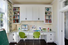 Homework area off of Family Room/Kitchen with pocket doors