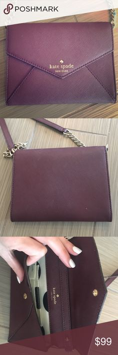 Kate Spade Crossbody/clutch Dark purple, literally in perfect condition!! kate spade Bags Crossbody Bags