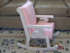 Child's Rocking Chair by TheOldRebelWorkshop on Etsy, $99.00.  love the rabbit on the side.