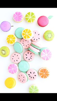 Watermelon Macarons One In A Melon Macarons French Macarons Fruit Macarons Custom Macarons Orange Macarons Lemon Macarons Macaroons Macaroon Wallpaper, Cupcakes Wallpaper, Kreative Desserts, Lemon Macarons, Cute Baking, Macaron Cookies, Shortbread Cookies, Cake Cookies, French Macaroons