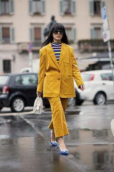 Attendees at Milan Fashion Week Fall 2018 - Street Fashion