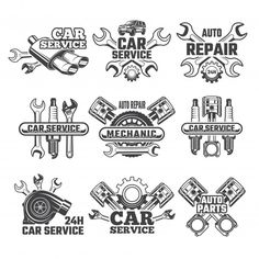 best car repair service center, station, mechanic workshops near singhu border. Our service stations offer auto car repair Service Auto, Car Repair Service, Truck Repair, Garage Logo, Neue Tattoos, Car Tattoos, Car Vector, Vintage Labels, Logo Vintage