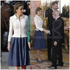 S.M Reina Letizia: LETIZIA RECICLA UNA DE SUS FALDAS MÁS BONITAS Y CONSIGUE ACERTAR