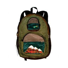 Big Mountain Patchwork Corduroy Backpack on Sale for $49.95 at The... ($50) via Polyvore