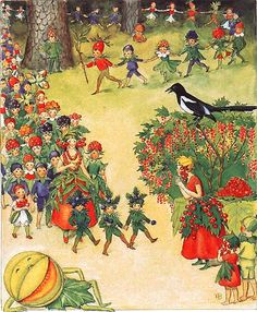 August Festival by Elsa Beskow