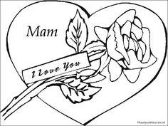 kleurplaten i love you mama