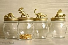 Make these cute jars with Dollar Store Animals