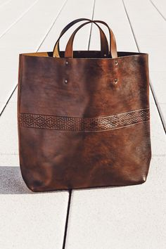 Interlaced Leather Tote | Accompany