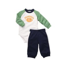 Carters 2pc LS Bodysuit Set  Green12 Months >>> Be sure to check out this awesome product.(It is Amazon affiliate link) #ootd