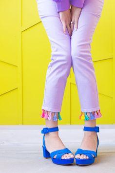 DIY Tassel Jeans