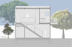 Cubo House,Section