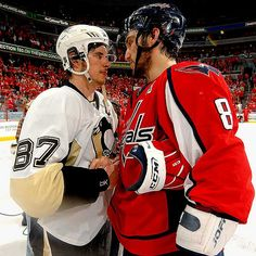 Crosby and Ovechkin, photo taken by Mitchell Layton