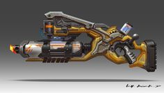 strange gun concept, Rock D on ArtStation at https://www.artstation.com/artwork/strange-gun-concept-d24f6ba3-f246-4248-a78f-66834cbc1973