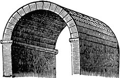 Barrel Vault, also known as a tunnel vault or a wagon vault, is an architectural element formed by the extrusion of a single curve (or pair of curves, in the case of a pointed barrel vault) along a given distance. Rome Architecture, Interior Design History, Roof Structure, Pattern Illustration, Vaulting, Architectural Elements, Design Art, Barrel, Clip Art