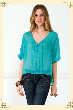 Evelyn Blouse from Francesca's...really into these silky blouses that are so popular now