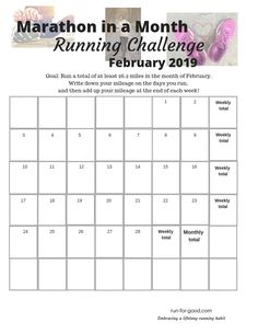 Need a motivation boost this month? Take the Marathon in a Month Running Challenge. It's simple. Just run a total of at least miles in the month of February. Running Form, Running Plan, Running Race, Keep Running, Marathon Running, Running Challenge, Challenge S, Workout Challenge, February Challenge