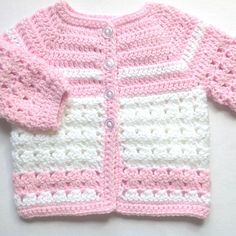 Pink crochet baby set - 0 to 3 months girl - Baby pink coat set - Baby shower gift - Crochet baby clothing - Pink baby outfit Crochet Baby Sweaters, Crochet Baby Cardigan, Crochet Baby Boots, Baby Girl Crochet, Crochet Baby Clothes, Crochet For Boys, Baby Knitting, Crochet Outfits, Crochet Beanie