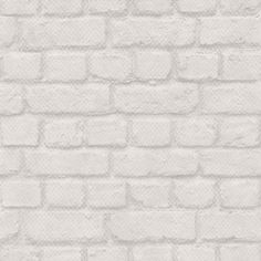 Brick (226713) - Albany Wallpapers - A realistic looking brick effect wallpaper in a pale grey colourway - perfect for a contemporary look.  Other colours available. Please request sample for true colour match.