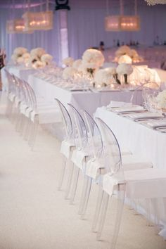 .white And Ghost Chairs