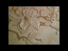 Барельеф Цветы магнолии своими руками - YouTube