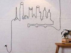 decoration fils electriques