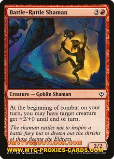 Battle-Rattle Shaman.xlhq Magic the Gathering Proxy mtg proxies cards all customized available from $0.37 www.mtg-proxies-cards.com email vmvtvg@outlook.com