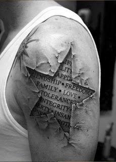 Sleeve Tattoo Designs for Men - Beste Tattoo Ideen 3d Tattoos For Men, Tattoos 3d, Half Sleeve Tattoos For Guys, Half Sleeve Tattoos Designs, Star Tattoo Designs, Temporary Tattoo Designs, Great Tattoos, Body Art Tattoos, Awesome Tattoos