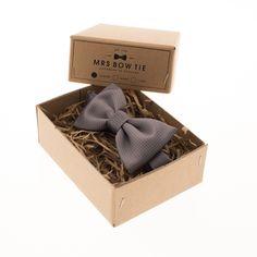 Grey Grid - Mrs Bow Tie