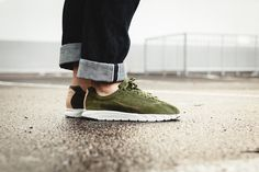 "Mayfly Leather Prm ""Legion Green"""