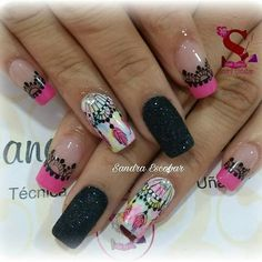 Cute Nail Art, Cute Nails, Nail Games, You Nailed It, Nail Art Designs, Henna, Beauty, Nail Arts, Nail Bling
