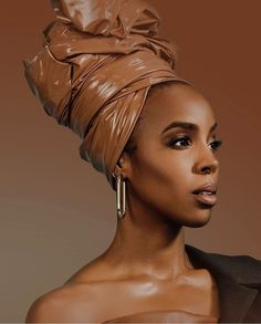 The beautiful Kelly Rowland in a headwrap. Black hair can be so thick, long and hard to manage at times. This head wrap is a great way to take a break from your hair for a day. Also a great way to protect your hair. Bad Hair Day, My Hair, Kelly Rowland Style, Kelly Rowland Makeup, Afro, Head Scarf Styles, Black Celebrities, Celebs, Brown Skin Girls