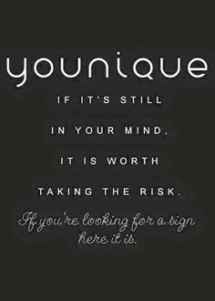 Take the plunge! Follow me @  https://www.facebook.com/YouniquebyReneeBowne/