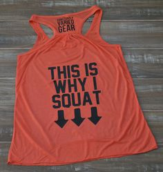 This Is Why I Squat Shirt - Crossfit Tank Top - Crossfit Workout Shirt