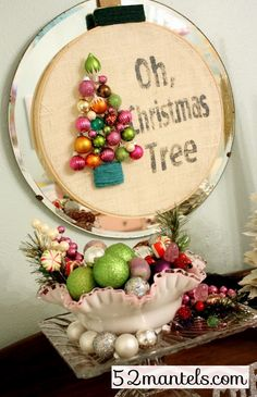 Oh Christmas Tree Wreath tutorial from Emily of 52 Mantels { lilluna.com }