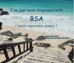 I've just been diagnosed with BSA (Beach Separation Anxiety)